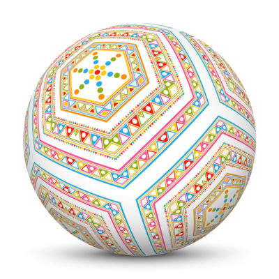 Sphere with Colorful Triangles and Dots