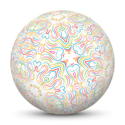 Sphere with Abstract and Colorful Pattern