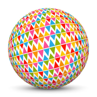 Sphere with Colorful Triangles
