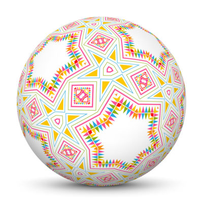 Sphere with Colorful Abstract Pattern