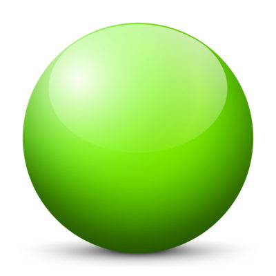 Citrus Lime Green Colored Sphere with Shiny/Glossy Surface