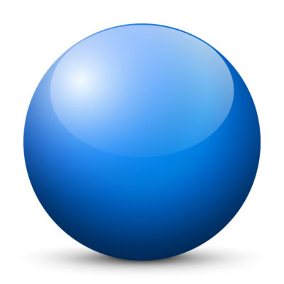 Light Blue Colored Sphere with Shiny/Glossy Surface