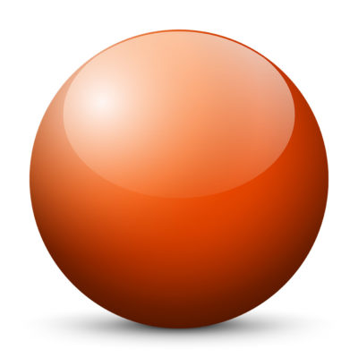 Orange Red Colored Sphere with Shiny/Glossy Surface