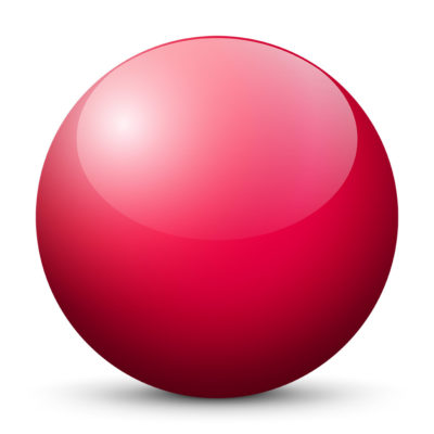 Purple-Red Colored Sphere with Shiny/Glossy Surface
