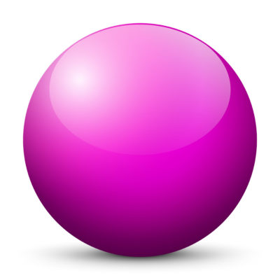 Purple Colored Sphere with Shiny/Glossy Surface
