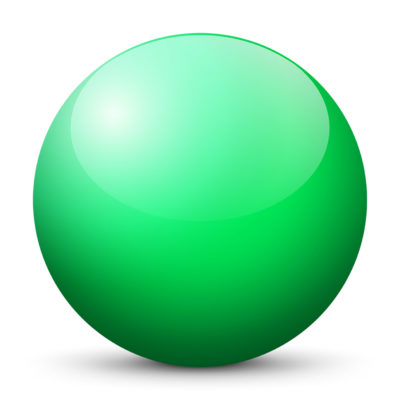 Turquoise Green Colored Sphere with Shiny/Glossy Surface