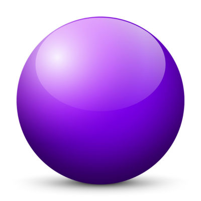 Violet Colored Sphere with Shiny/Glossy Surface