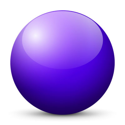 Violet-Blue Colored Sphere with Shiny/Glossy Surface