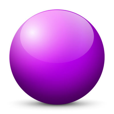 Purple-Violet Colored Sphere with Shiny/Glossy Surface
