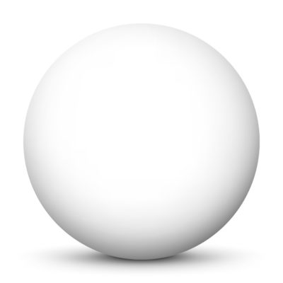 White Sphere Isolated on White Background with Smooth Shadow
