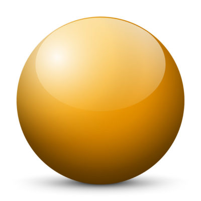 Orange Yellow Colored Sphere with Shiny/Glossy Surface