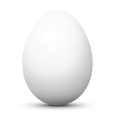 White Easter Egg/Orb with Smooth Shadow and White Background