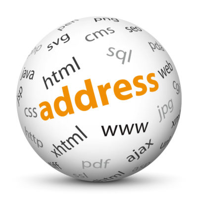 """White Sphere with Tag-Cloud / Word-Cloud! Keyword: """"address"""""""