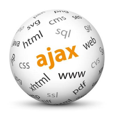 "White Sphere with Tag-Cloud / Word-Cloud! Acronym: ""ajax"""