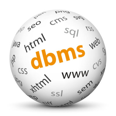 """White Sphere with Tag-Cloud / Word-Cloud! Acronym: """"dbms"""""""
