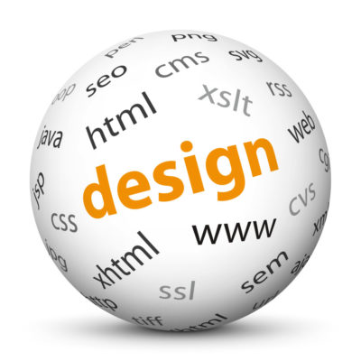 """White Sphere with Tag-Cloud / Word-Cloud! Acronym: """"design"""""""