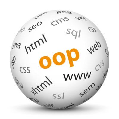 """White Sphere with Tag-Cloud / Word-Cloud! Acronym: """"oop"""""""