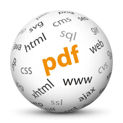"""White Sphere with Tag-Cloud / Word-Cloud! Acronym: """"pdf"""""""