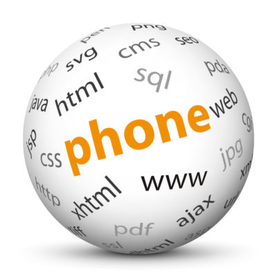 "White Sphere with Tag-Cloud / Word-Cloud! Keyword: ""phone"""