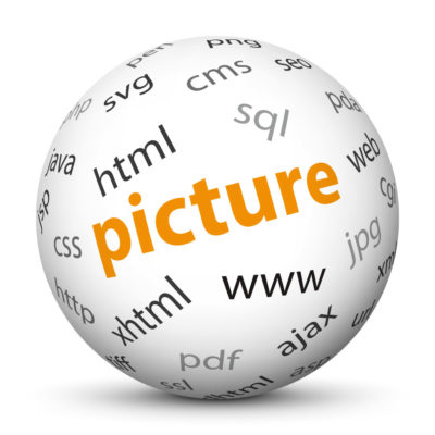 """White Sphere with Tag-Cloud / Word-Cloud! Keyword: """"picture"""""""