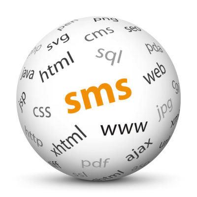 """White Sphere with Tag-Cloud / Word-Cloud! Acronym: """"sms"""""""