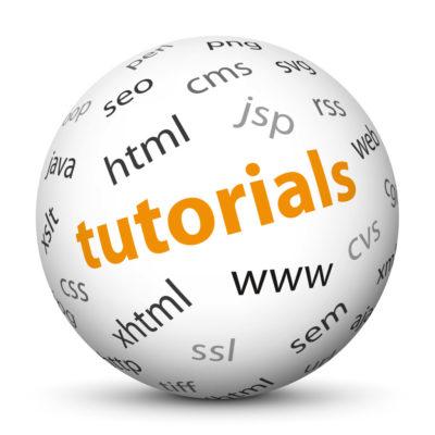 "White Sphere with Tag-Cloud / Word-Cloud! Keyword: ""tutorials"""