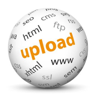"White Sphere with Tag-Cloud / Word-Cloud! Keyword: ""upload"""