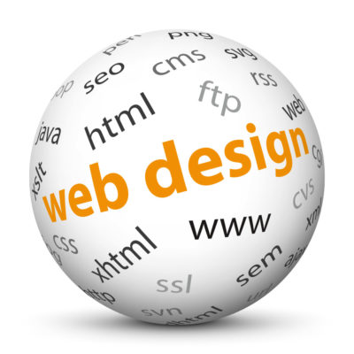 """White Sphere with Tag-Cloud / Word-Cloud! Keyword: """"web design"""""""