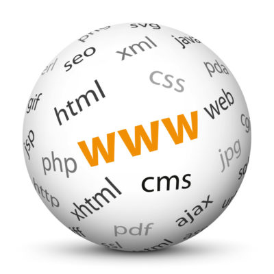 """White Sphere with Tag-Cloud / Word-Cloud! Acronym: """"www"""""""