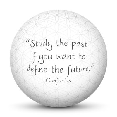 White Sphere with Confucius Quote - Study the past if you want to define the future.