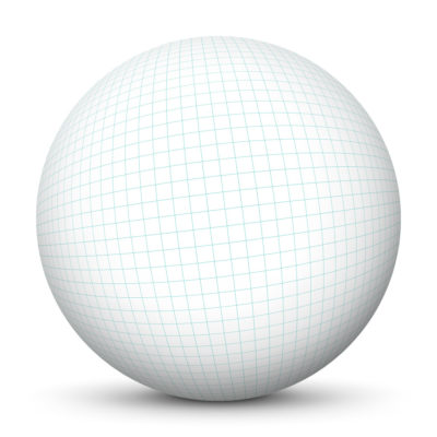 White Sphere Template with Graph Paper - Quad Paper - Texture